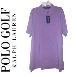 Polo Golf Lavender Moisture-Wicking Polo Large